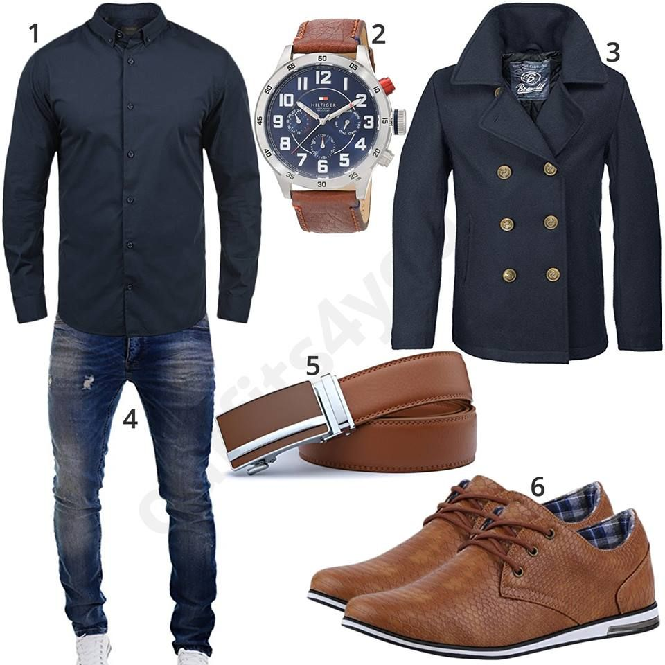 m nner outfit mit hemd parka und business sneakern mode. Black Bedroom Furniture Sets. Home Design Ideas