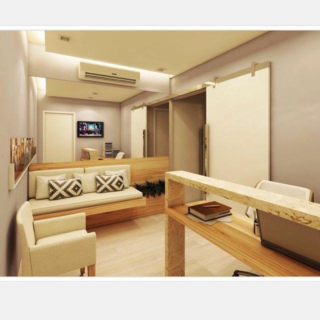 Consultório Odontológico   Recepção #hdarquitetura #decoração #interior  #consultorio #arquiteturadeinteriores #projeto