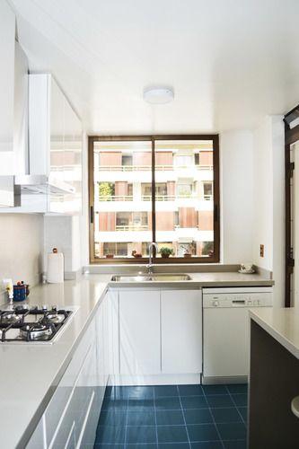 Resultado de imagen de cocina con suelo azul | cocinas | Pinterest ...