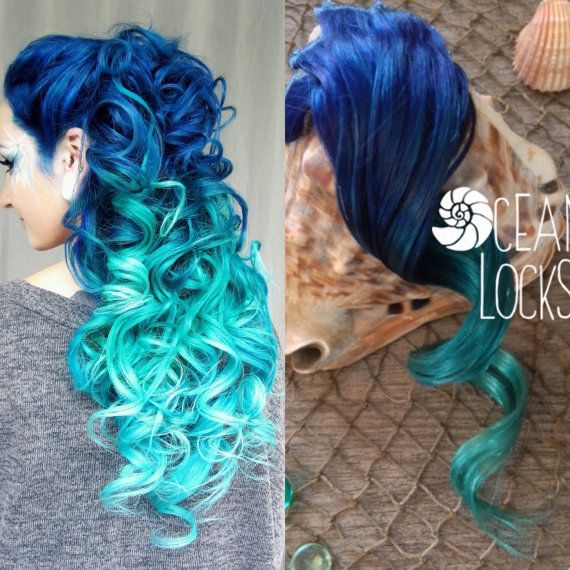 Blue Hair Turquoise Mint Hair Extensions Ombre Hair Extensions
