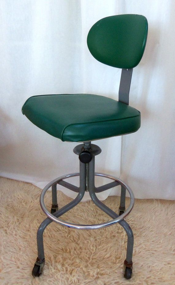 Vintage Industrial Drafting Stool Machine Age By Beehavenhome Sold
