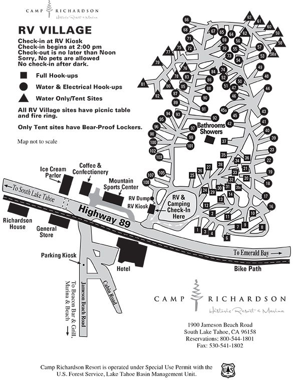 South Lake Tahoe RV Parks and Camping - Camp Richardson ... on lane county oregon map, camp richardson lake tahoe, camp richardson bike trail map, camp richardson rv map, richard camp camp map, lake tahoe map,