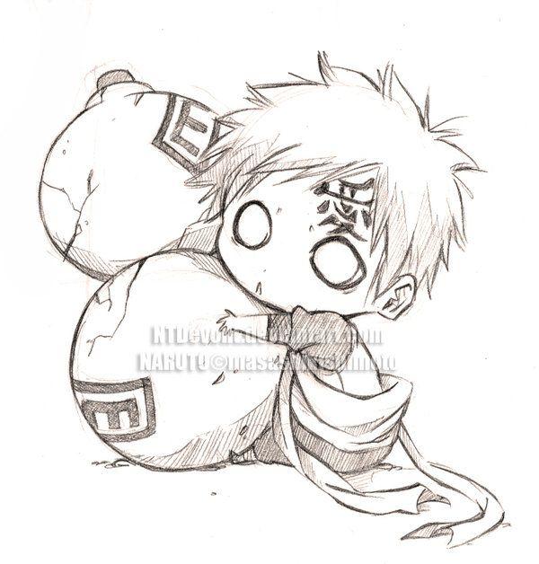 Gaara Naruto Naruto Sketch Anime Drawings Sketches Naruto