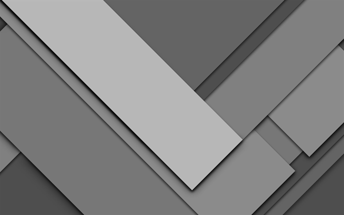 Download Wallpapers Geometric Shapes 4k Gray Background Geometry Strips Material Design Lines Besthqwallpapers Com Material Design Minimalist Wallpaper Abstract Wallpaper