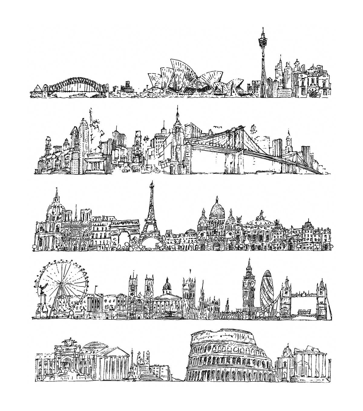 tim holtz cling stamps 7 x8 5 cityscapes