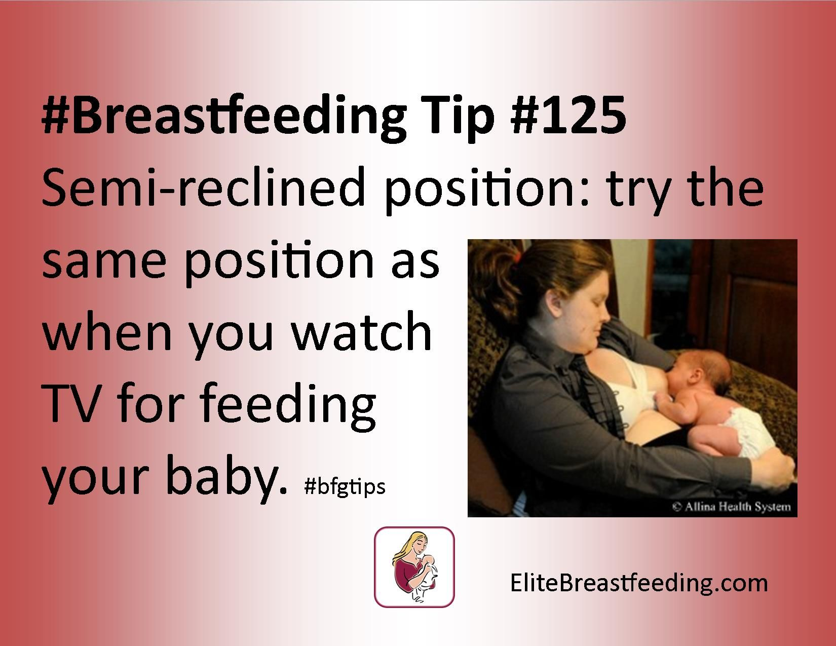 #Breastfeeding Tip #125 Semi-reclined position try the same position as when  sc 1 st  Pinterest & Breastfeeding Tip #125 Semi-reclined position: try the same ... islam-shia.org