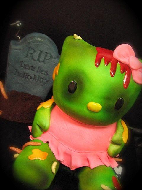 zombie hello kitty cake Hello kitty cake, Kitty cake and Hello kitty - hello kitty halloween decorations