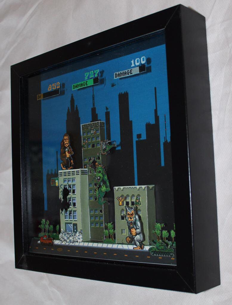 rampage 3d paper diorama create your own world pinterest 3d