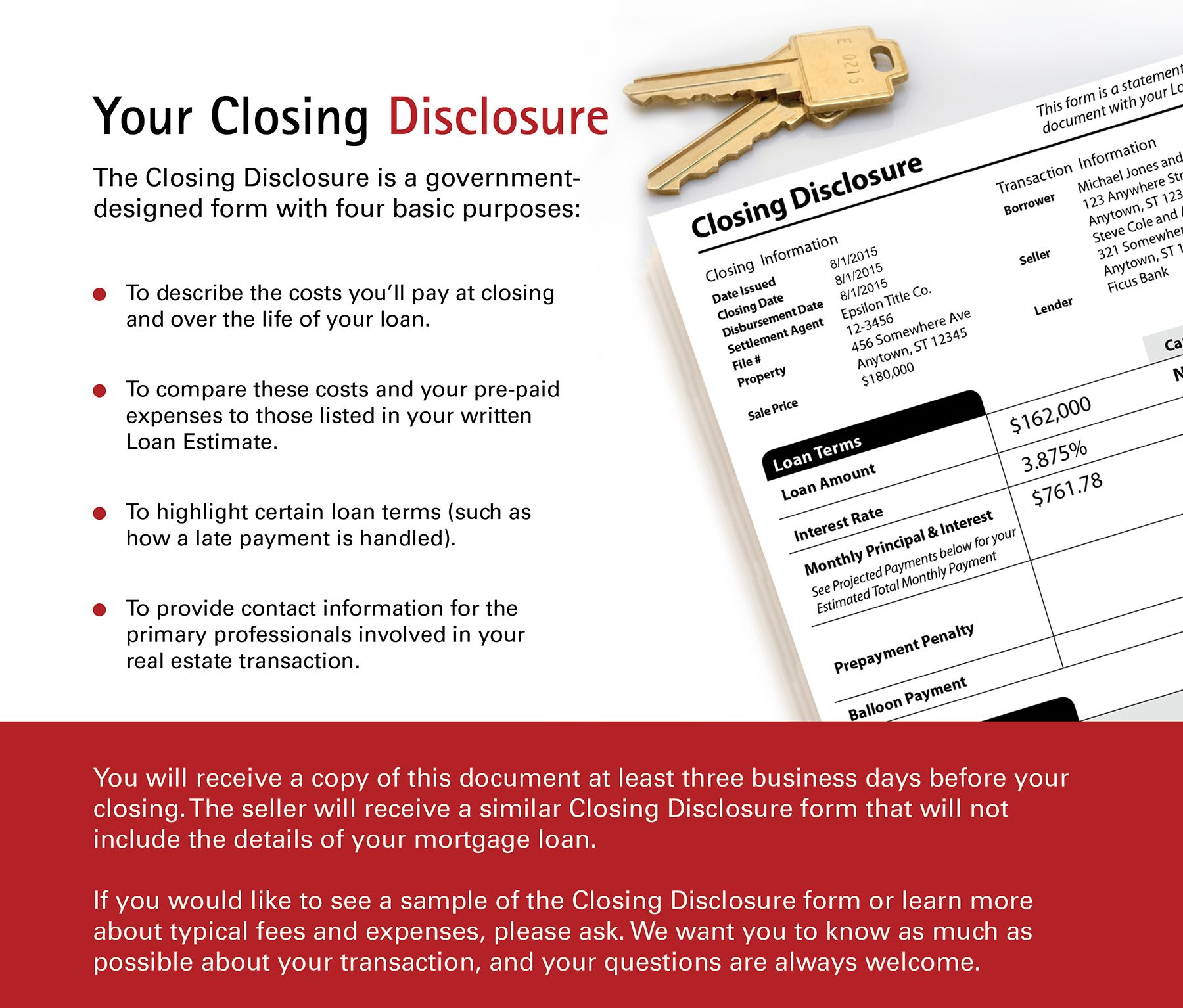 Your Closing Disclosure  Mortgages