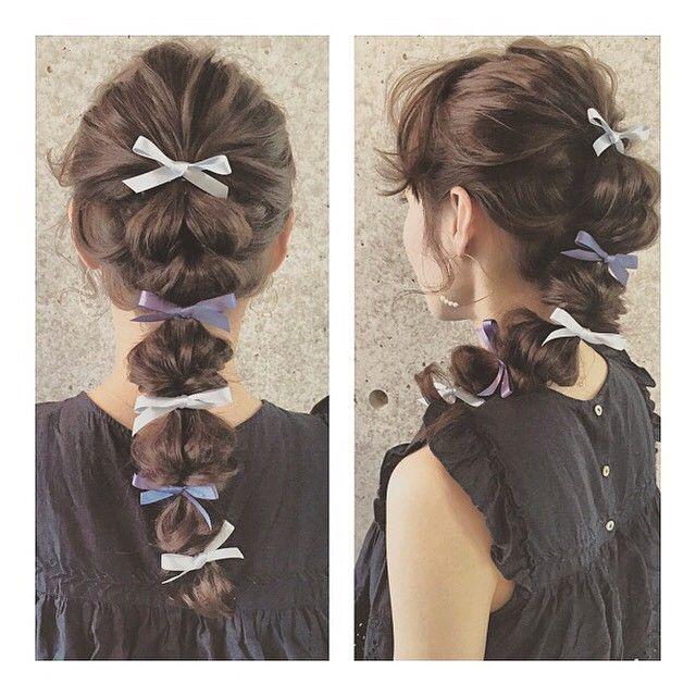 マリ On Instagram Summer Arrange ヘアアレンジ Fashion コーデ ネイル 卒業式 髪型 女の子 ヘアアレンジ ヘアスタイリング