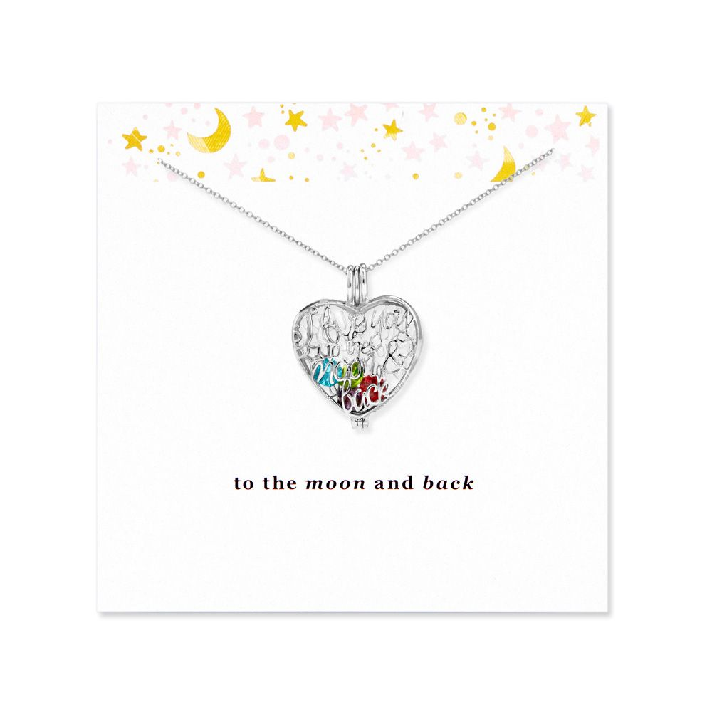 Piercing jewellery names  Custom Floating Locket can have birthstone charms added To the Moon