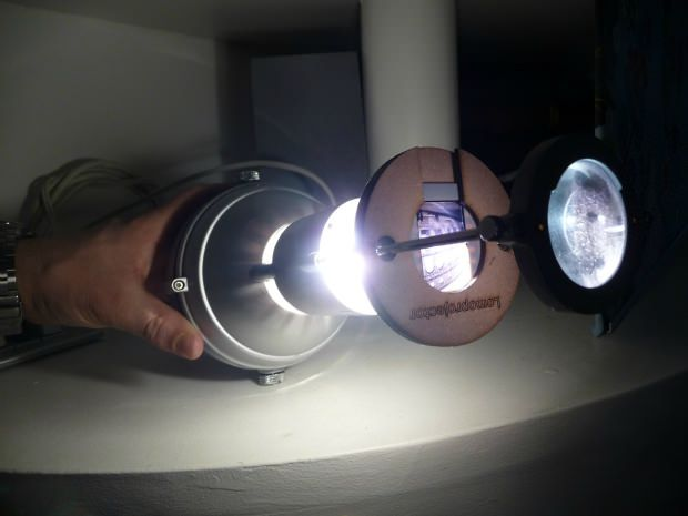 Make A Diy Slide Projector Using An Ikea Lamp Diy Slides Diy Projector Ikea Lamp