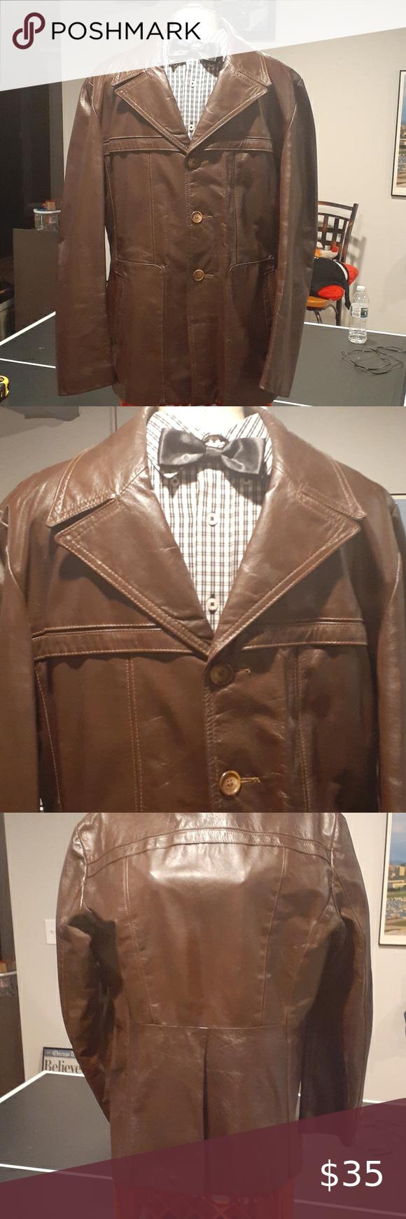 Men Brown Leather Coat M Brown Leather Coat Leather Coat Plaid Fashion [ 1740 x 580 Pixel ]