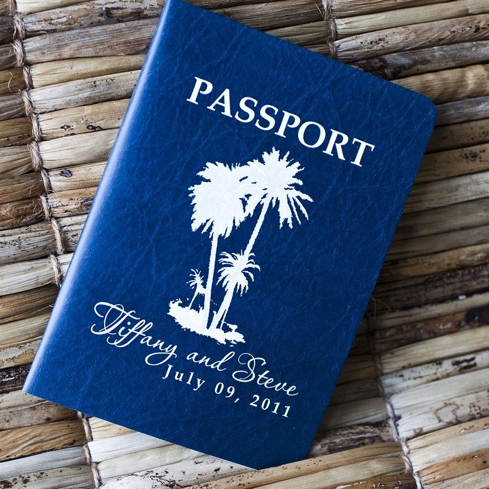 Deposit passport invitation or save the date navy faux