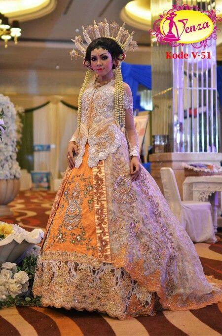 Kebaya Gaun Pengantin Kebaya Mewah Eksklusif Pernikahan Megah