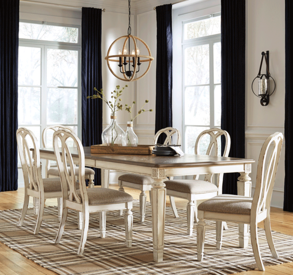7 Pc Dining Room Set Cardi S Furniture Mattresses Extension Dining Table Table And Chair Sets Dining Table