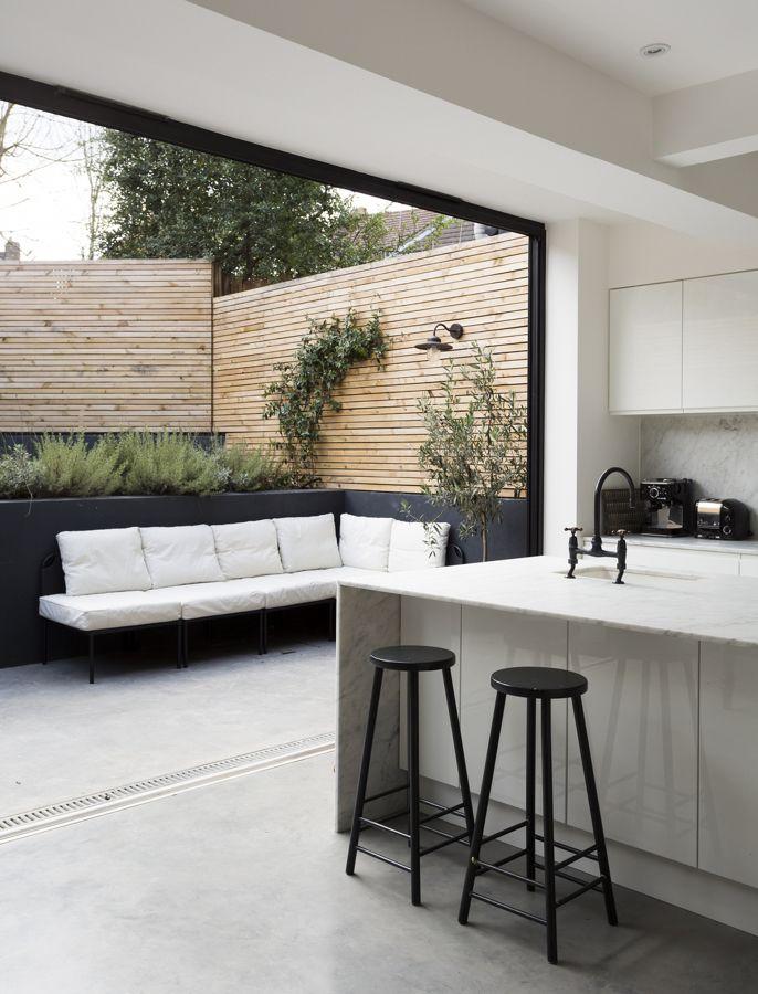 Cocina abierta a la terraza   Ideas para el hogar   Pinterest ...