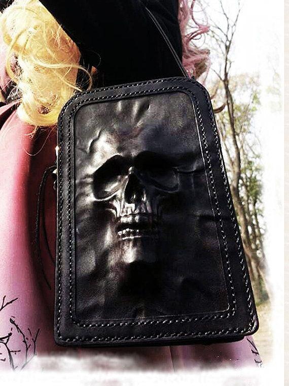 Fée Necromancy Handmade Leather Diaper & Hip Bag by AugustMoonJp, ¥35000
