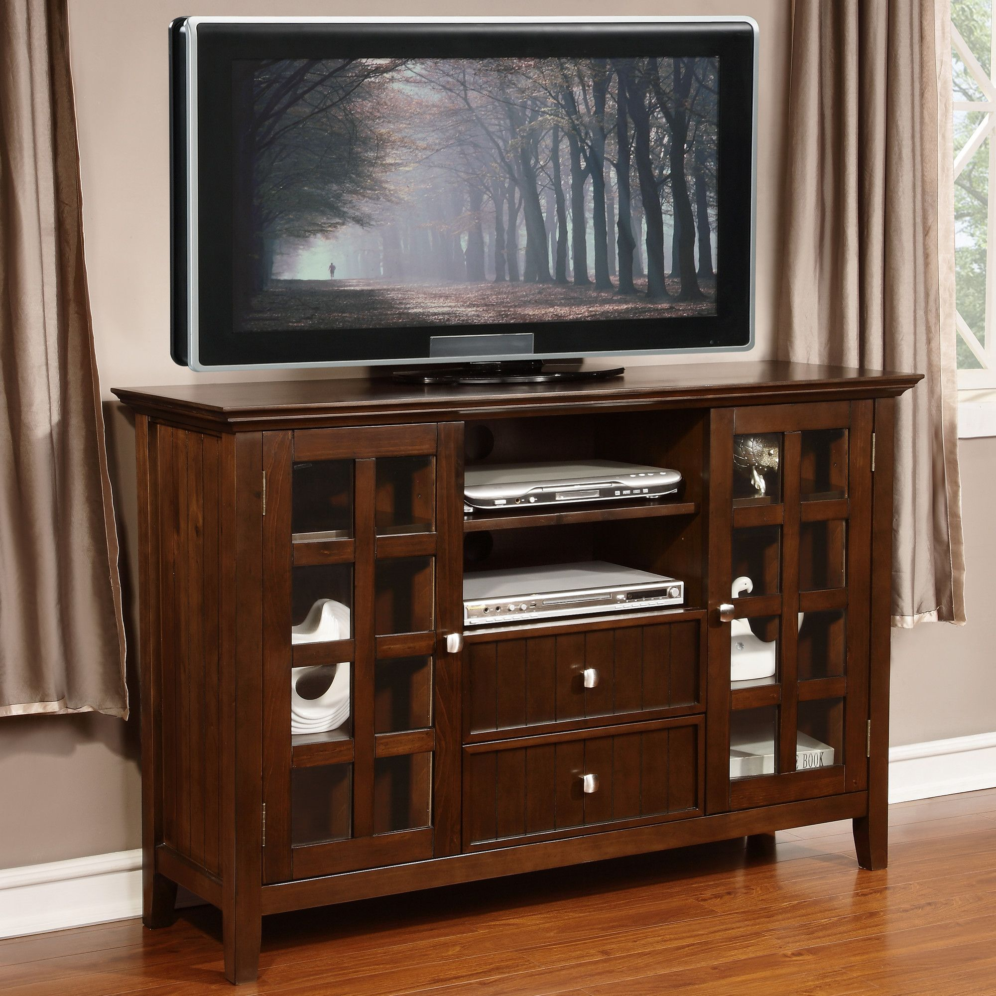acadian 53 tv stand products tall tv stands entertainment rh pinterest ch