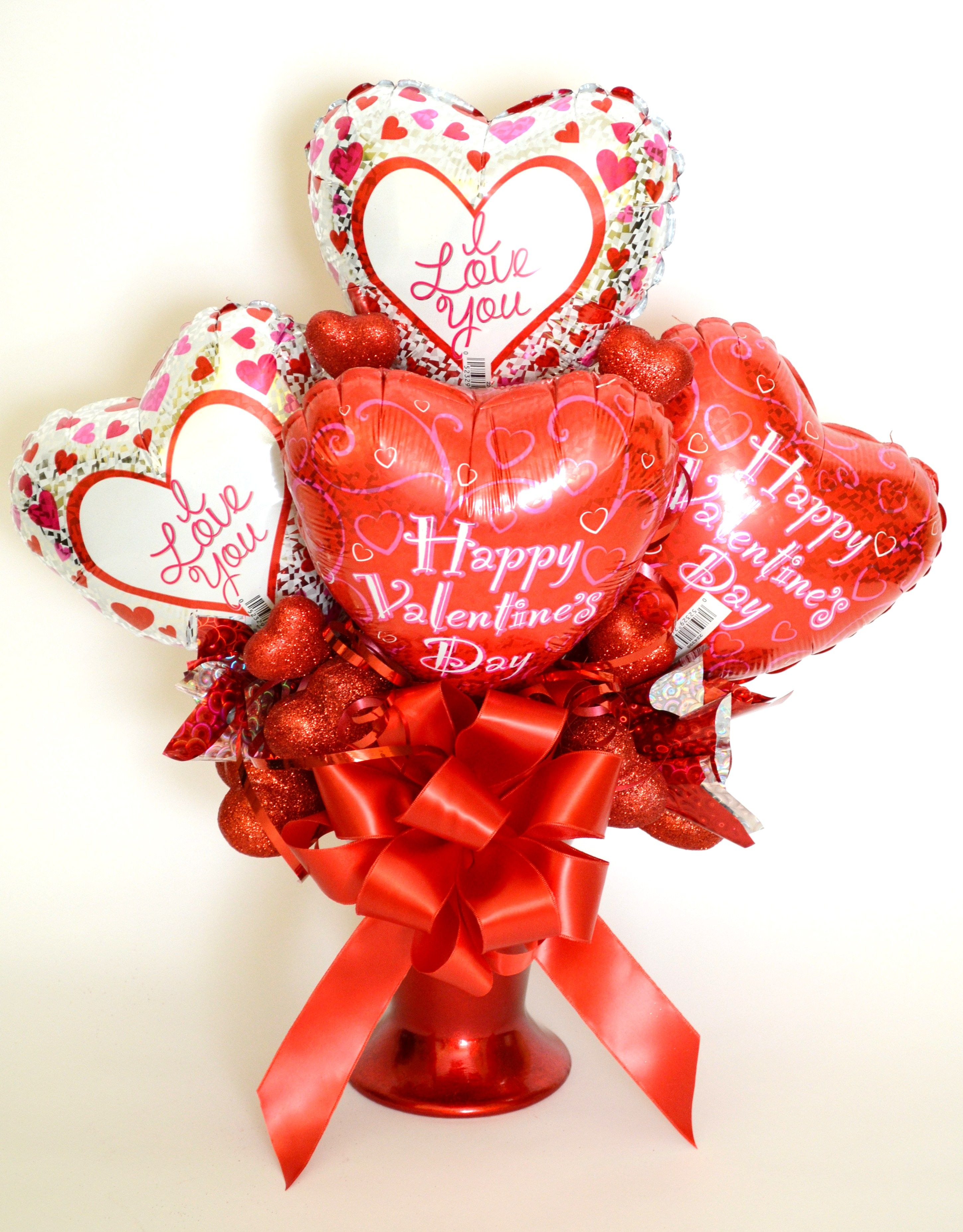 Roses Valentine S Day With Stuff Toys : Reversible valentine s day balloon bouquet side