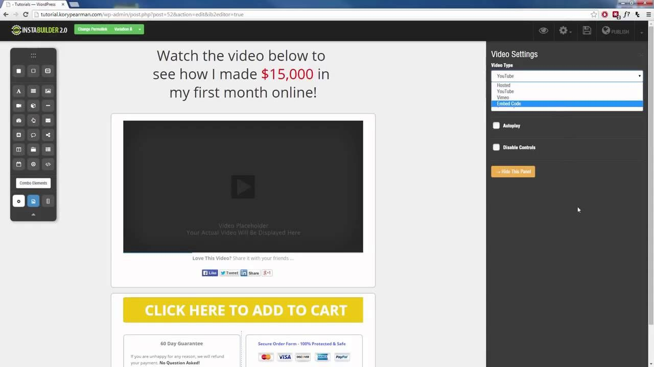 InstaBuilder 2.0 Tutorial 7 How To Create A Page Using InstaBuilder ...
