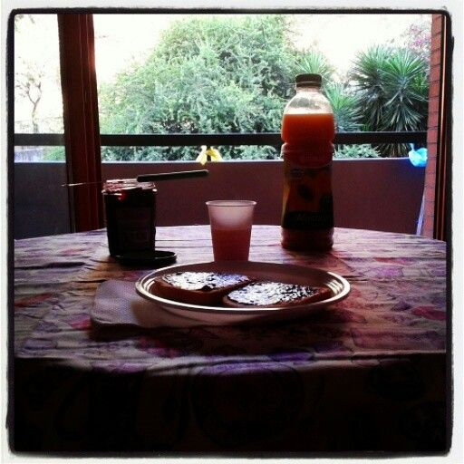 First breakfast in my home