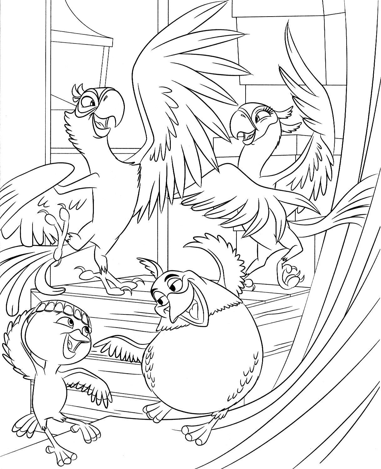 Coloring Rio44 Jpg 1 218 1 499 Piks Kleurplaten Disney Tekenen