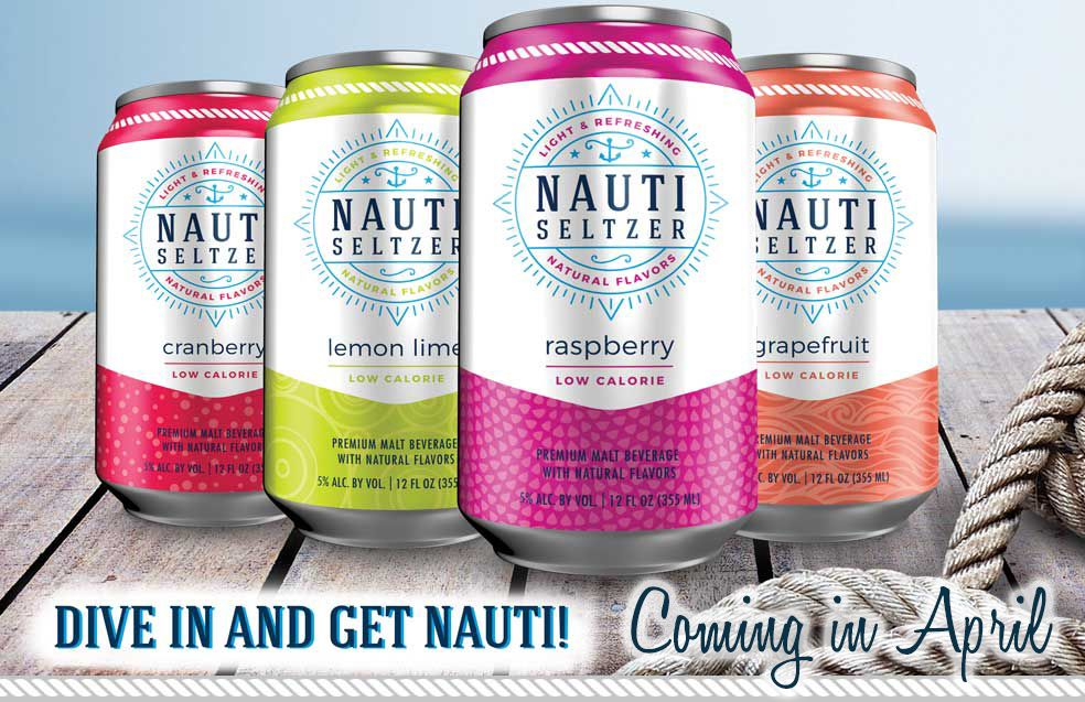 Nauti Seltzer Craft Cocktail Company. I'm an old lady