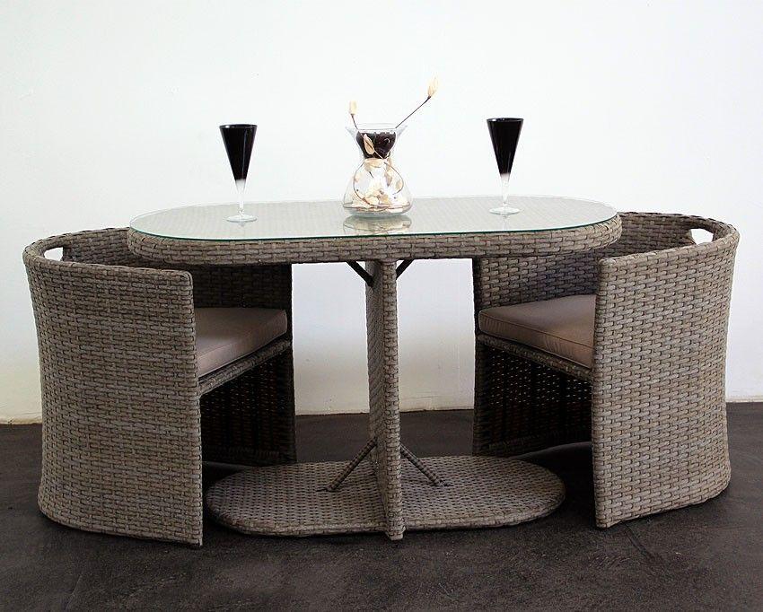 Wicker Bistro Table