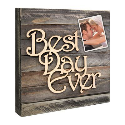 aMonogramArtUnlimited Best Day Ever Mounted on Vintage Rustic Board Wall Décor