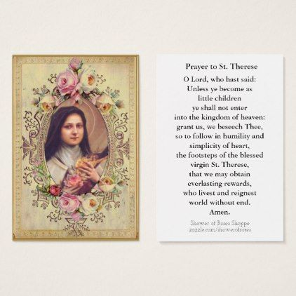 Little Flower Prayer card St Therese Chaplet and box set Catholic gift