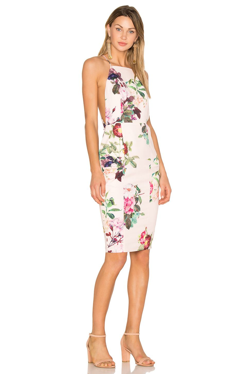 eaab12577f AIRLIE Isolla Bella Midi Dress in Pink Print Roupas Europeias