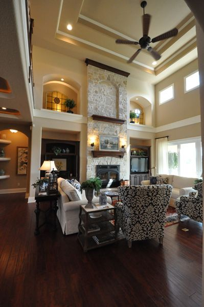 Great Room Additions Home Design Ideas Pictures Remodel And Decor: Grand 2-Story Great Room Ceilings In Our Sequoia Model #TimOBrienHomes