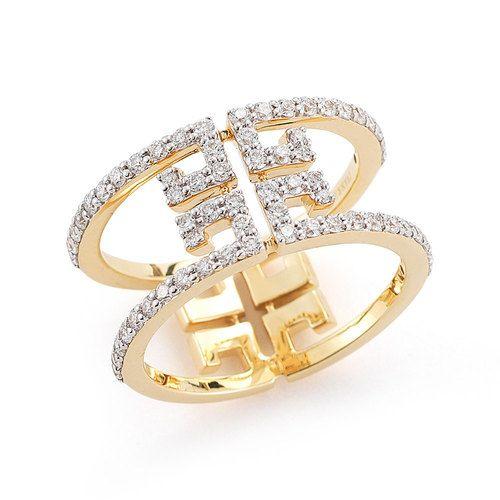 Ivanka Trump Metropolis 18K Yellow Gold Open Diamond Ring ...