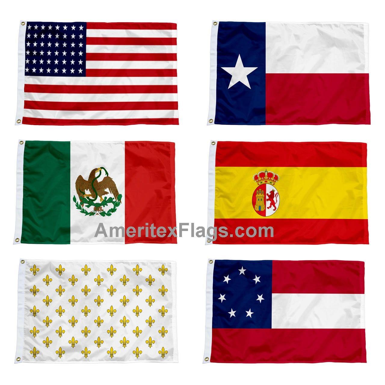 Six Historical Flags Over Texas Historical Flags France Flag Historical