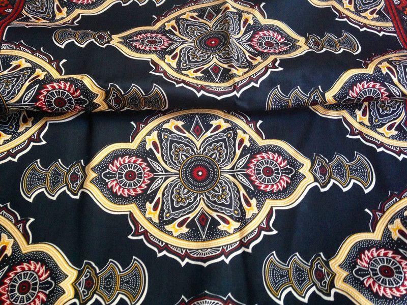 Stoff Afrikanisch Afrikanischer Stoff Kitenge Mfano Ein