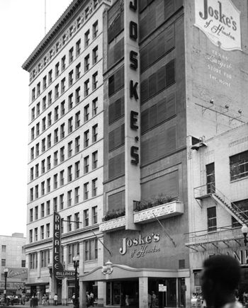 joske s downtown houston when they opened their first houston store