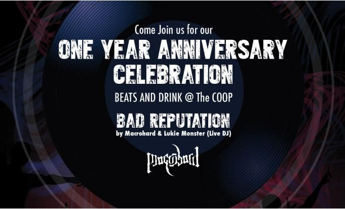Lets celebrate the coop one year anniversary with beats drinks