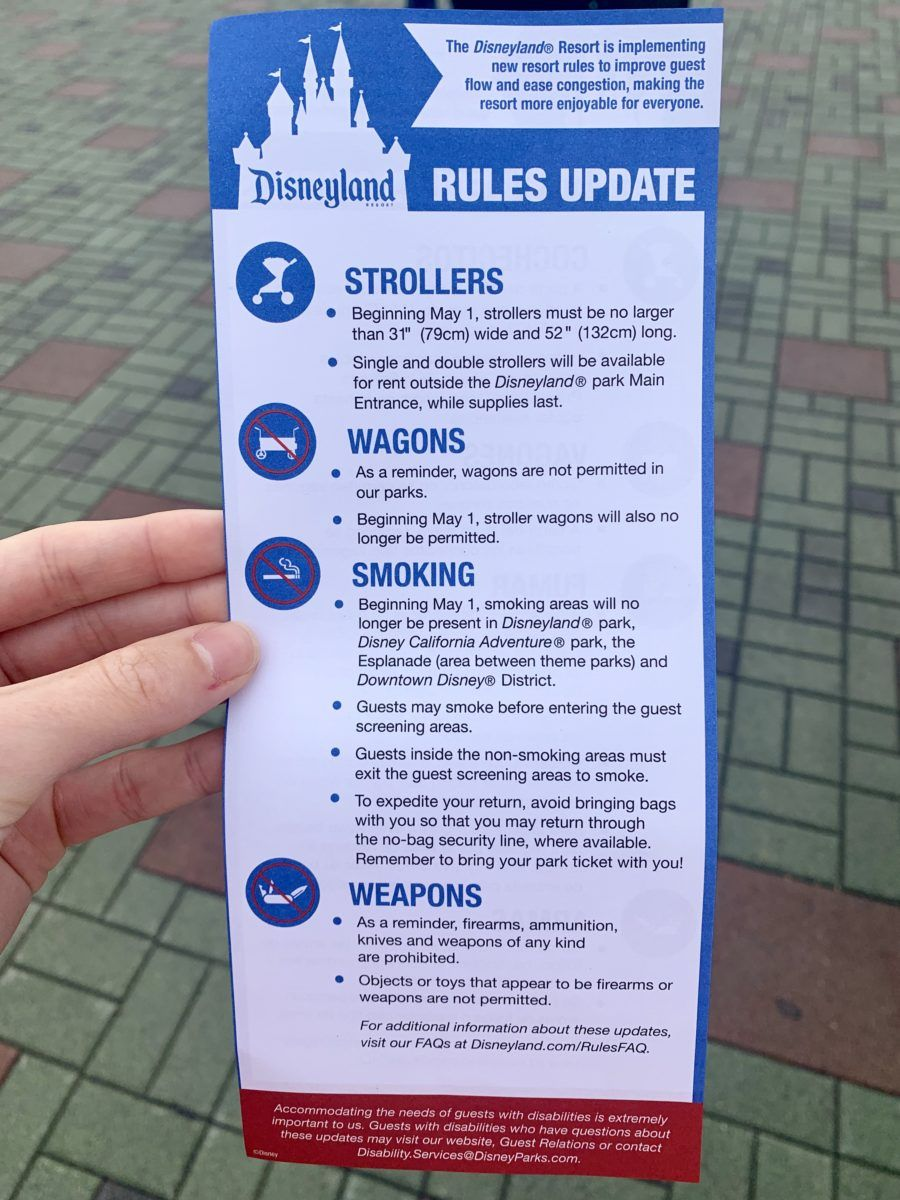 PHOTOS New Stroller Rules and Size Check Locations Arrive