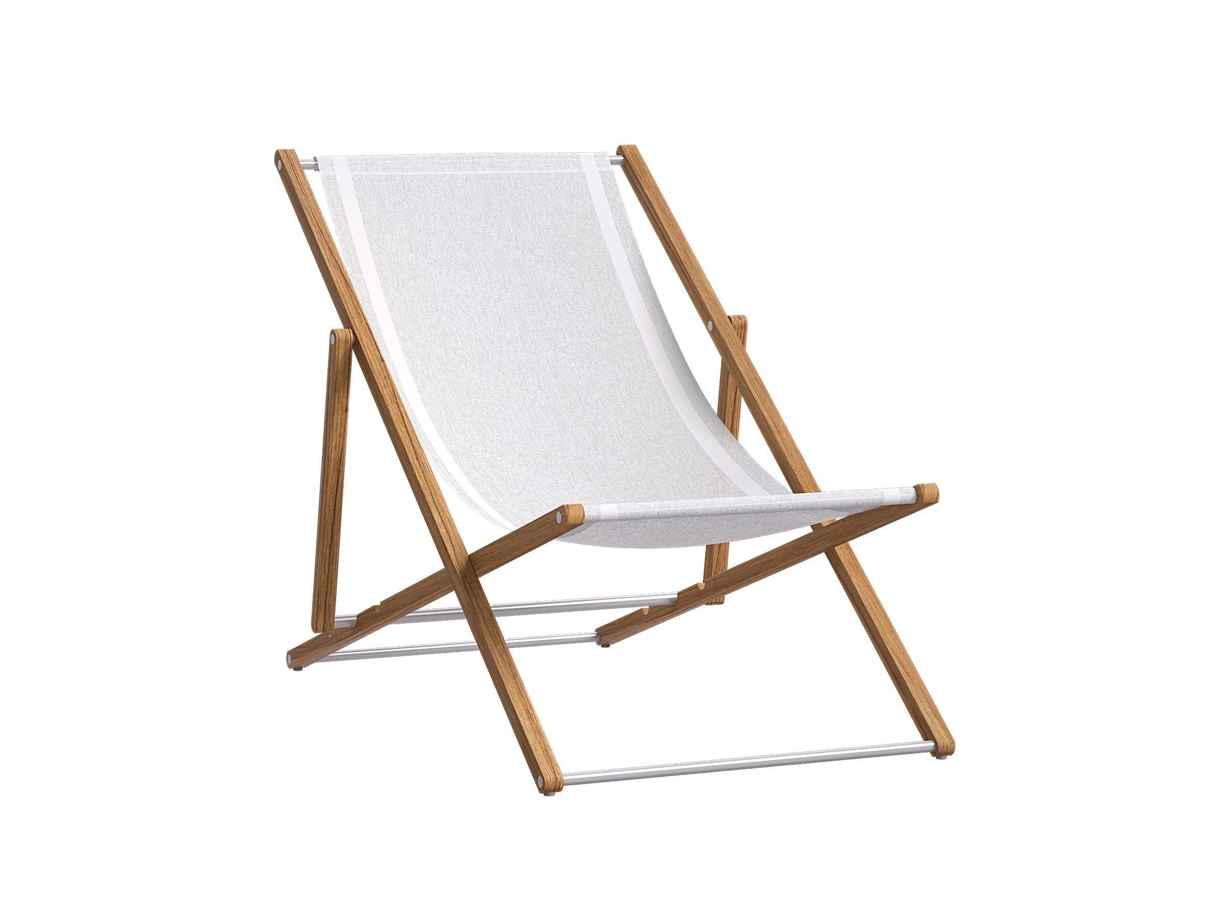 Verstellbarer Liegestuhl aus Textilene mit Armlehnen | Liegen ...