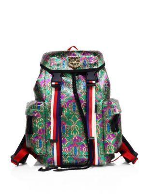 995311e6ceab GUCCI Metallic Jacquard Techpack. #gucci #bags #lining #backpacks #metallic  #