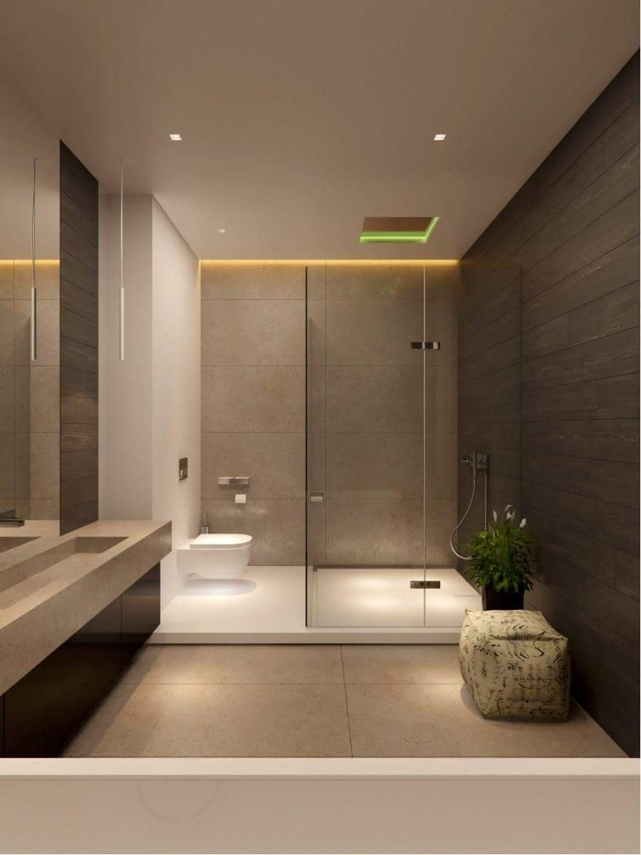 Lav On Other Side Extend Counter Into Shower Modern