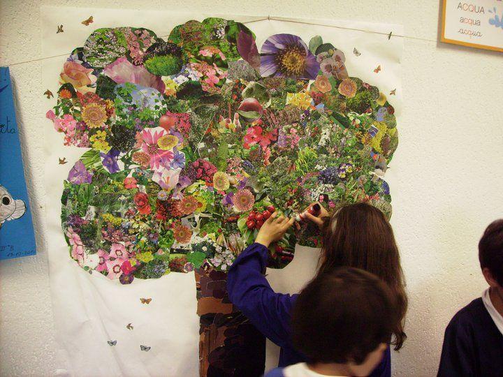 Collage Bambini ~ L albero realizzato con la tecnica del collage i miei lavori