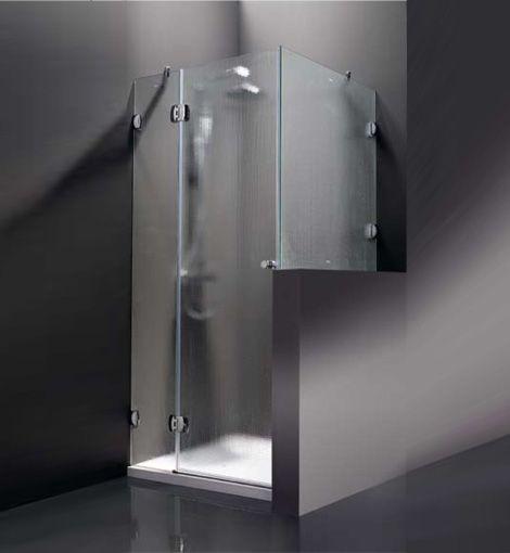 Mamparas hojas abatibles para ducha y ba era a medida de cristal serie bestglass de profiltek - Banera a medida ...
