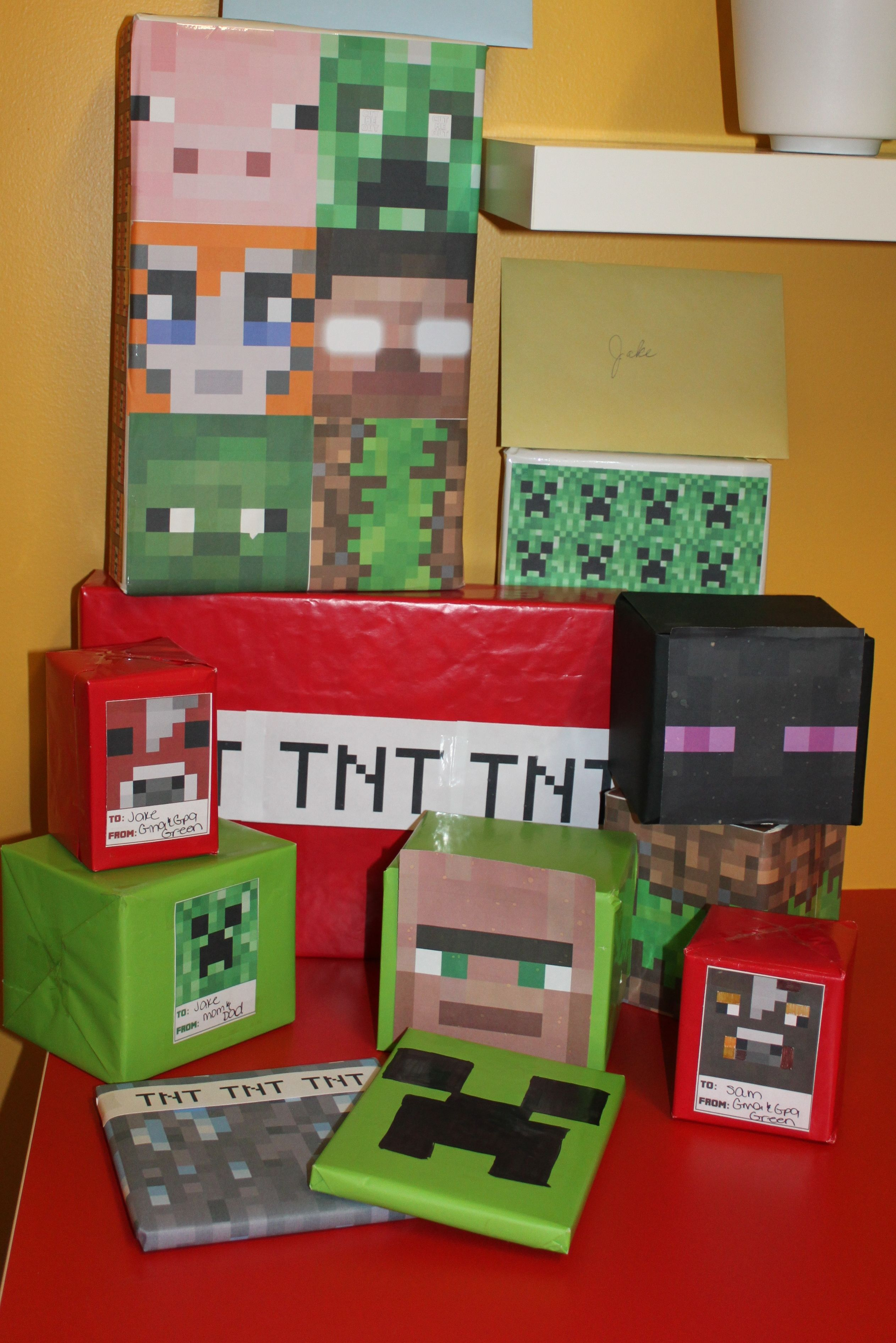 minecraft gift wrapping ideas