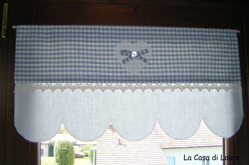 Tende lino e uncinetto per cucina google search home curtains i home - Tende in lino per cucina ...