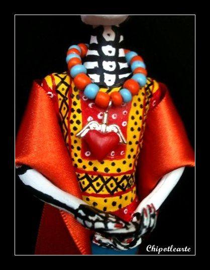 CATRINA FRIDA, BLUSA pintada a mano chipotlearte@hotmail.com