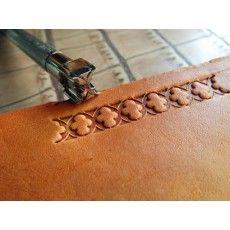leathercraft tool, leather craft tool, leather stamps, border tool, X
