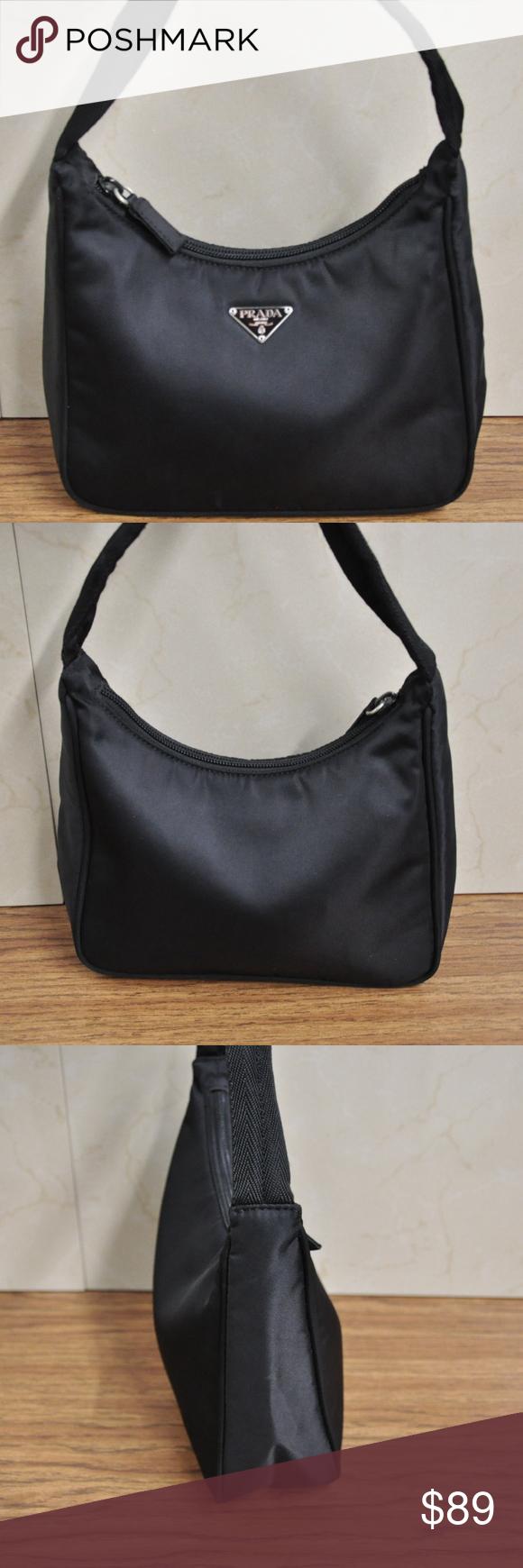 7594dd1e506b5e Prada Tesutto Black Nylon Top Handle Mini Bag AUTHENTIC Prada Tesutto Black  Nylon Top Handle Mini
