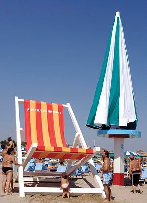 Giant Beach Items In Rimini With